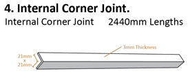 Tongue and Groove System Drawing Internal Corner Joint