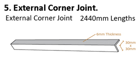 Tongue and Groove System Drawing External Corner Joint